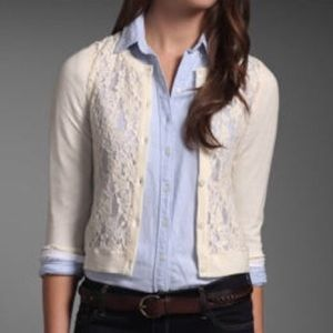 Ivory/cream Lace cardigan sweater
